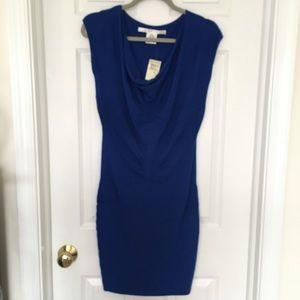 MAX STUDIO Fine Knit Body Con Cobalt Mini Dress M